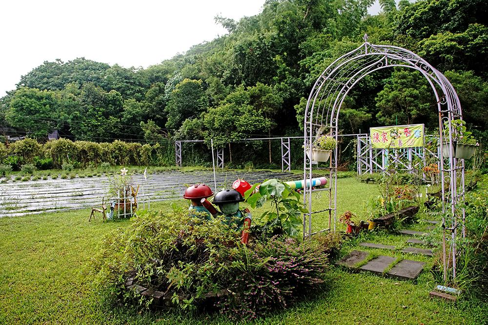 陳家香草友善農園清新幽靜,令人放鬆。