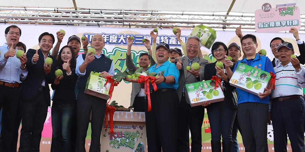 市府團隊推廣優質的台灣蜜棗。(照片提供/大社區公所)