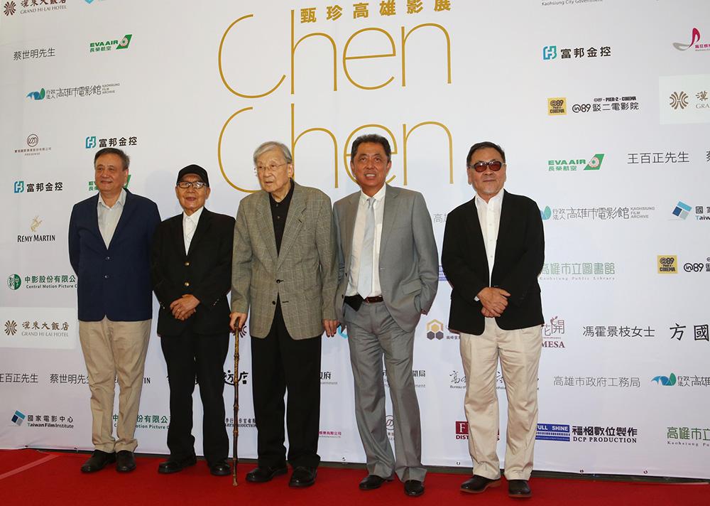 (左起)李崗、郭南宏、李行、朱延平、王童都是群星會活動的來賓。