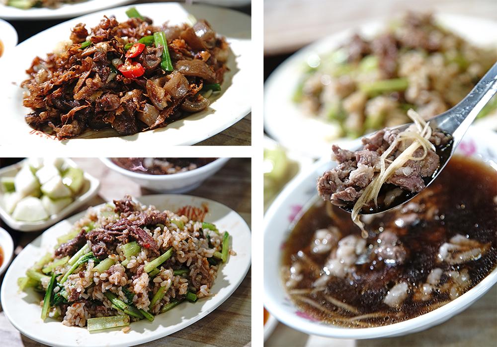 以當歸湯底汆燙的羊肉湯及各式羊肉快炒都令人胃口大開。