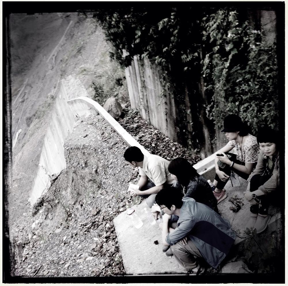 《山豬溫泉》拍攝現場。