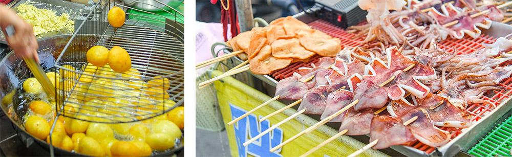 老街與美食並存的旗津。