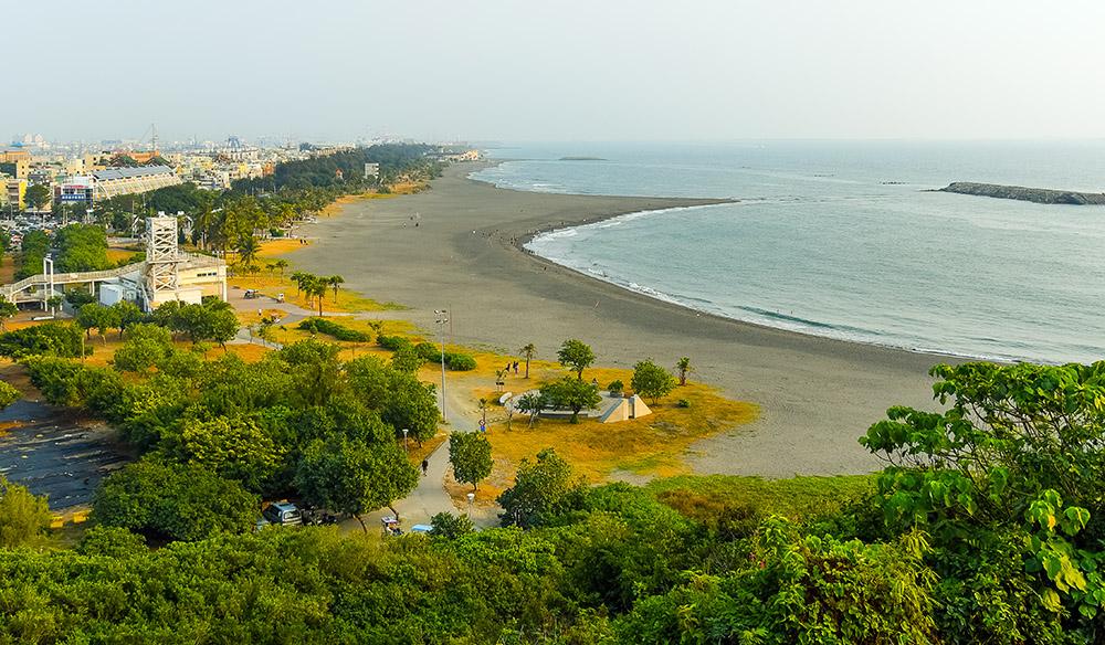 旗津沙灘。