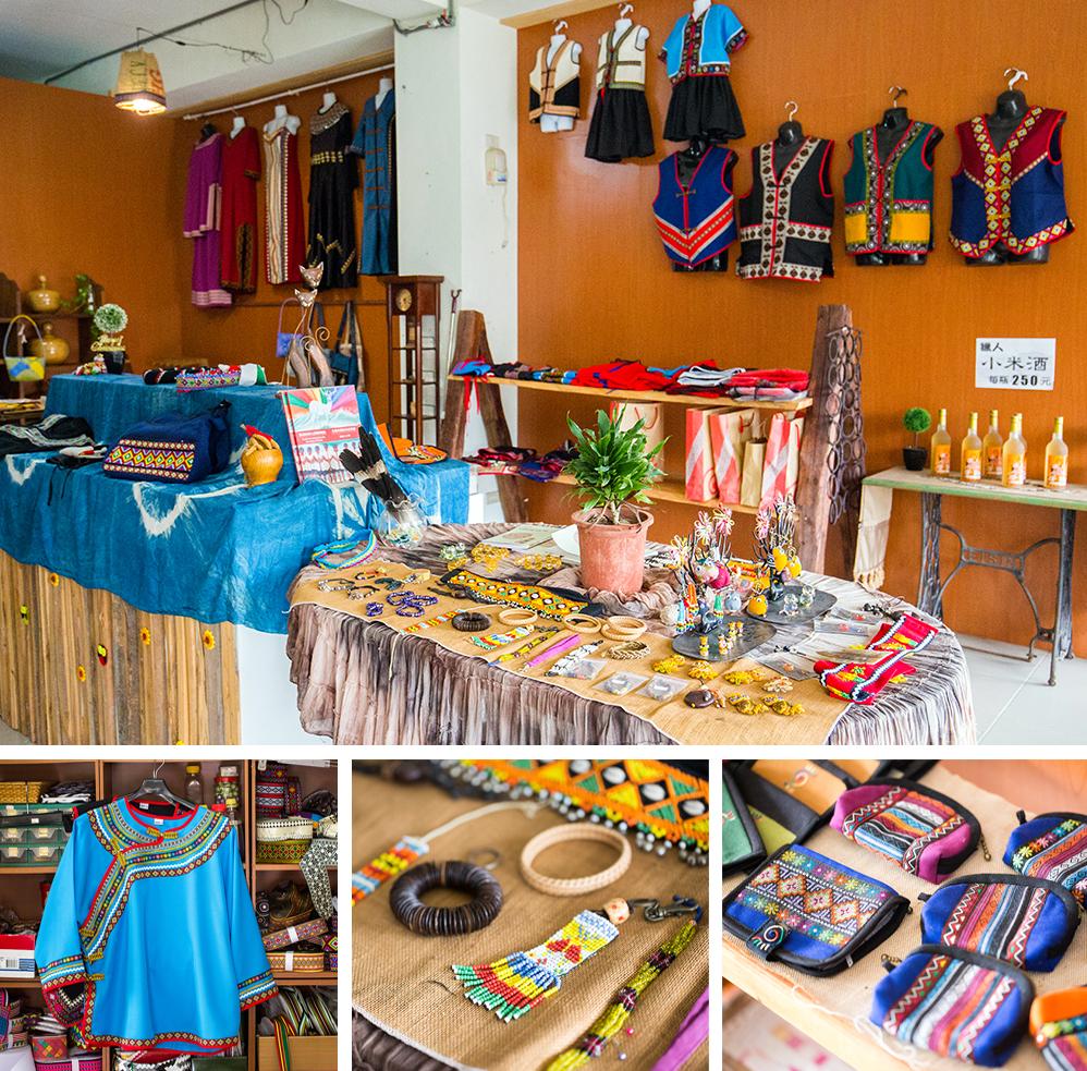 日部落原住民文創藝術工坊展示空間。
