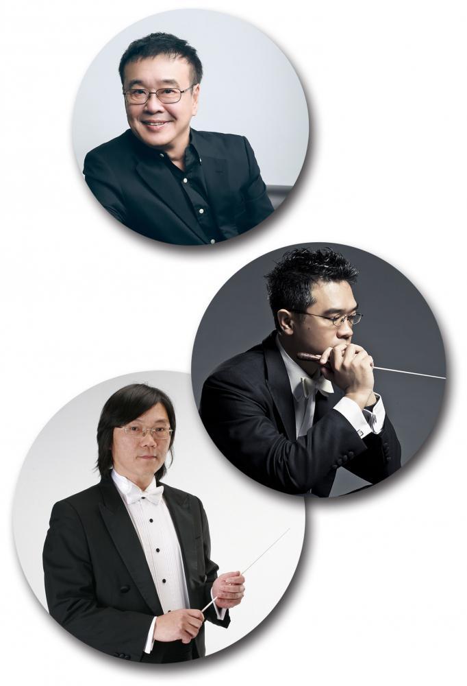 由上而下:朱宏昌執行長、楊智欽指揮、郭哲誠指揮。