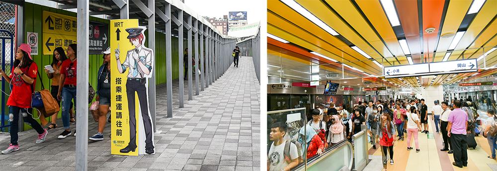 高捷R11高雄車站已正式啟用。(攝影/陳十攝影工作室)