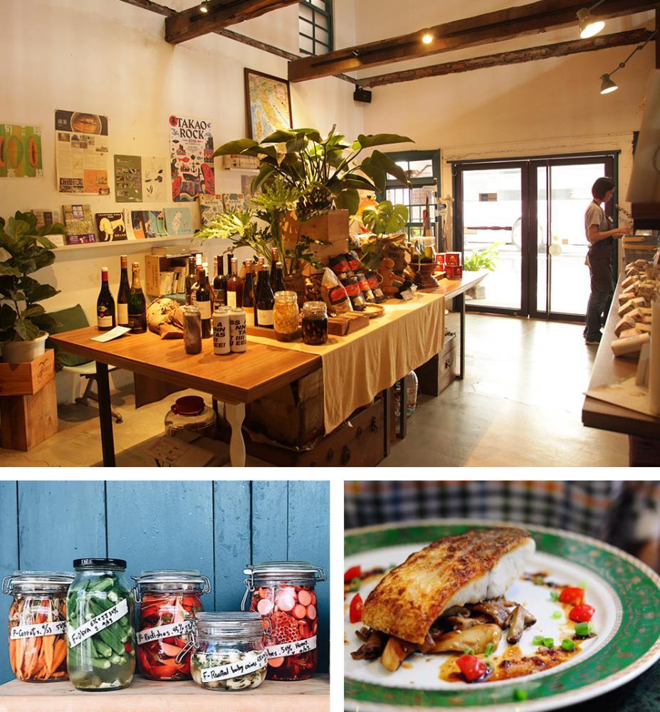 位於高雄西子灣的「好市集LE BON MARCHE」。(上:攝影/林喬俐,下左、下右:圖片提供/好市集LE BON MARCHE)