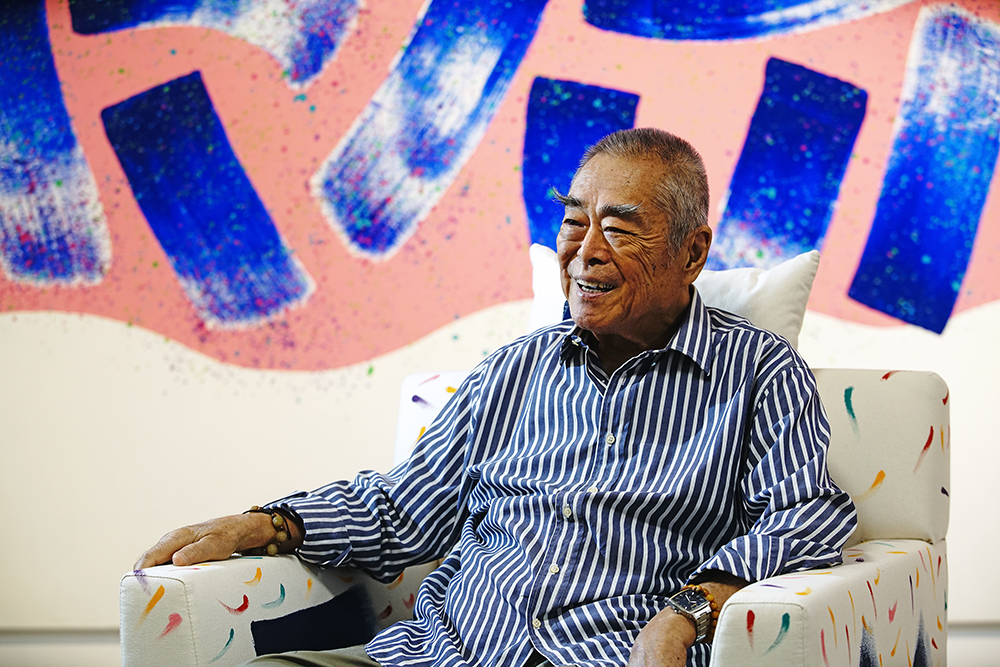 蕭勤是亞洲現代抽象藝術的拓荒者。(攝影/曾信耀)