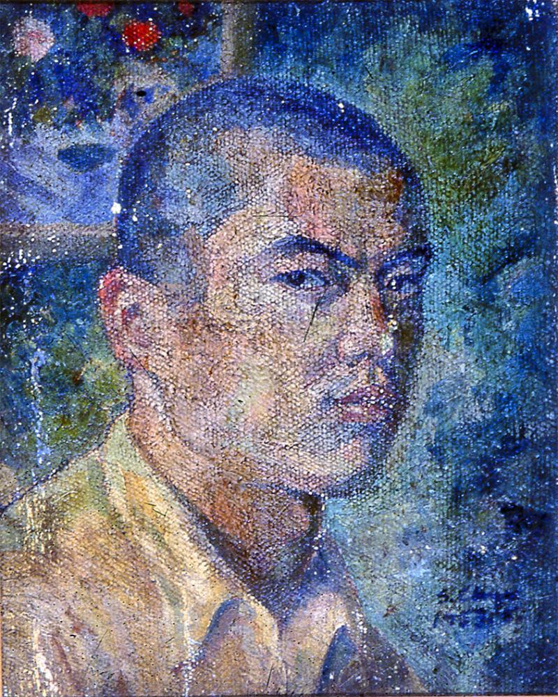 蕭勤自畫像,1955年作品。(照片提供/蕭勤國際文化藝術基金會)