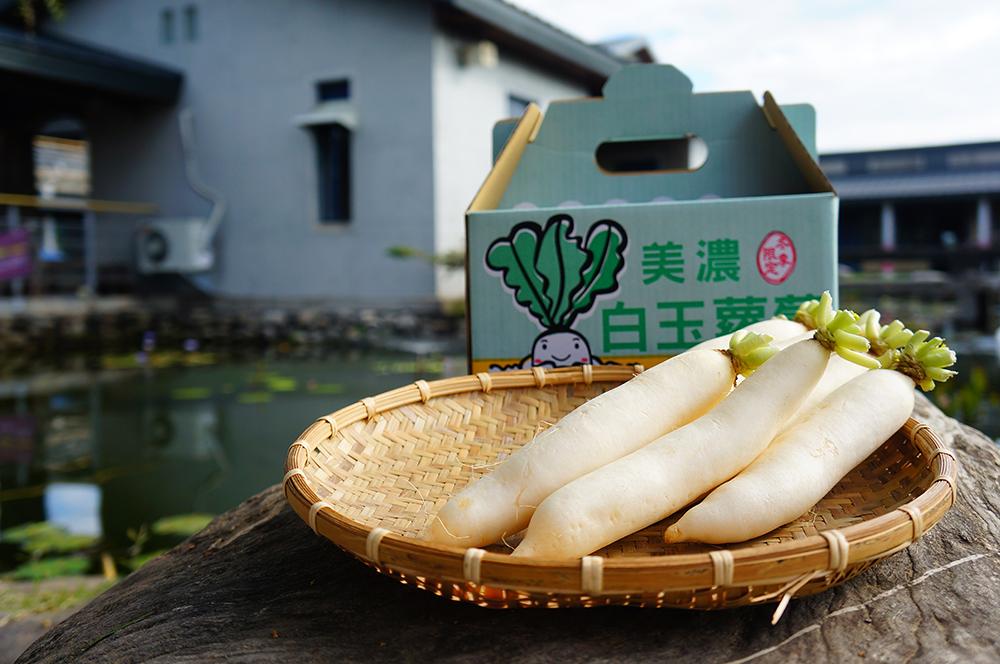 「白玉蘿蔔」是美濃農會註冊商標。(圖片提供/美濃區農會)