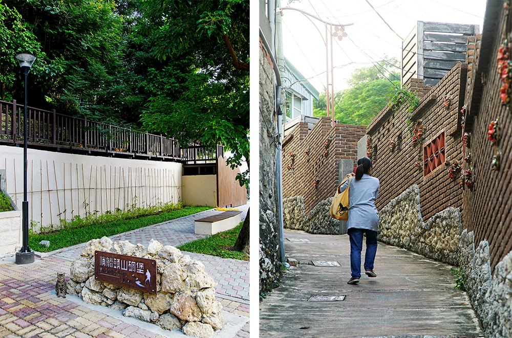 哨船頭山碉堡步道由鼓山區安船街30巷小公園對面的登山小徑進入,循打狗英國領事館官邸景觀步道前進,不到1分鐘即可抵達。(攝影/曾信耀)