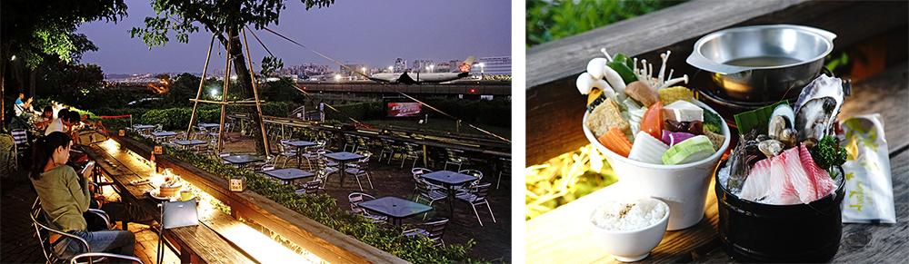 空港餐廳的極鮮海鮮鍋是農場招牌必推。(攝影/曾信耀)