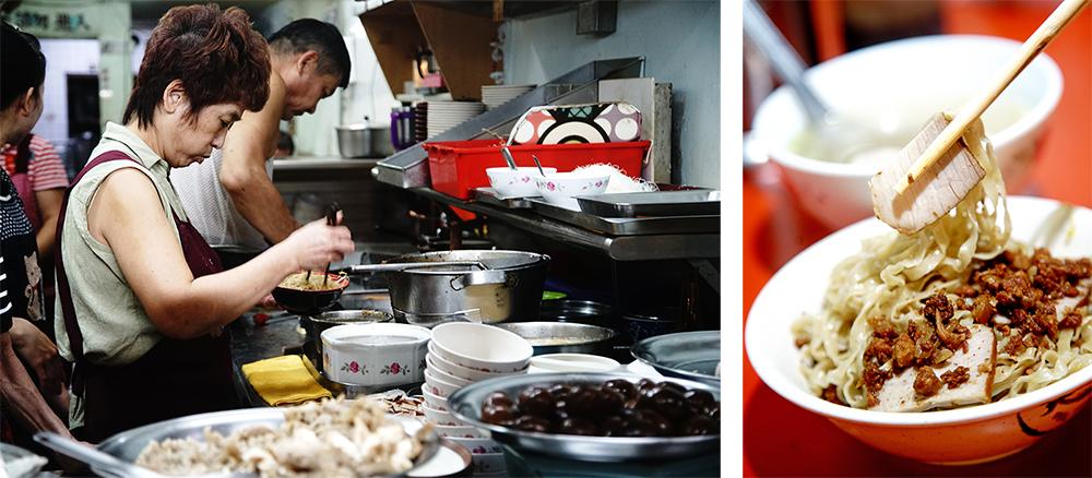 最初從台南鹽水到高雄落腳的阿萬意麵,已經是一甲子老店。(攝影/曾信耀)