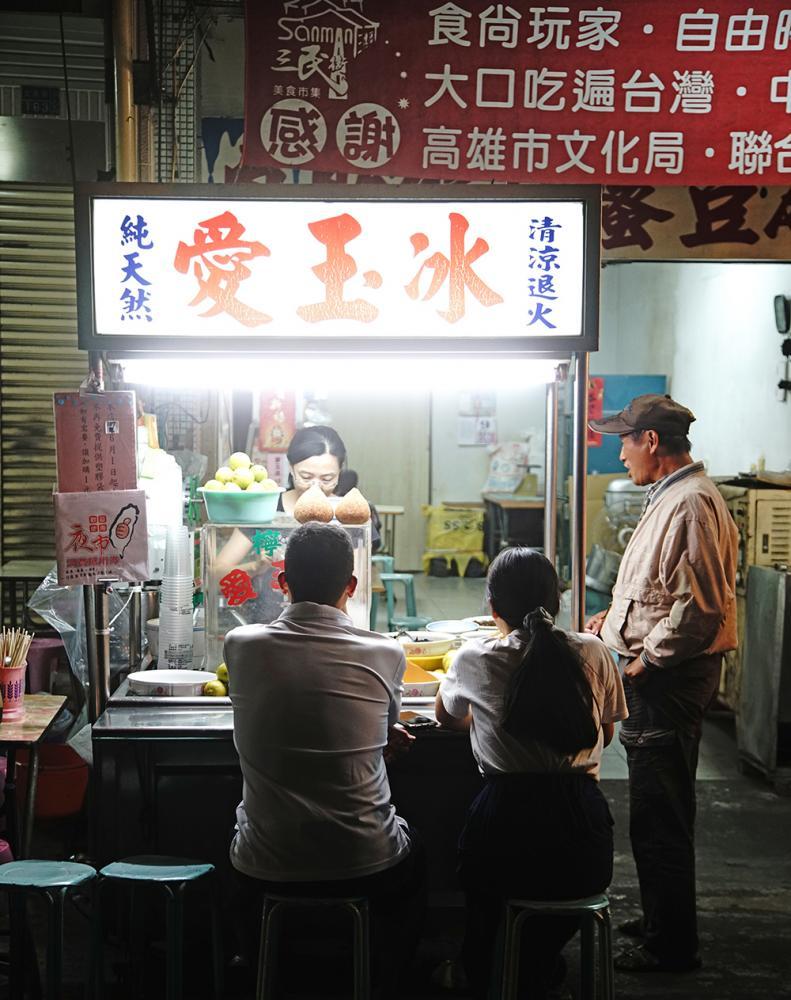 沒有店名的愛玉冰,是三民街小吃的低調老店。(攝影/曾信耀)