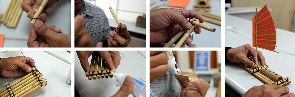 小漁筏製作過程。(攝影/N̂gChú-jiû黃子柔)