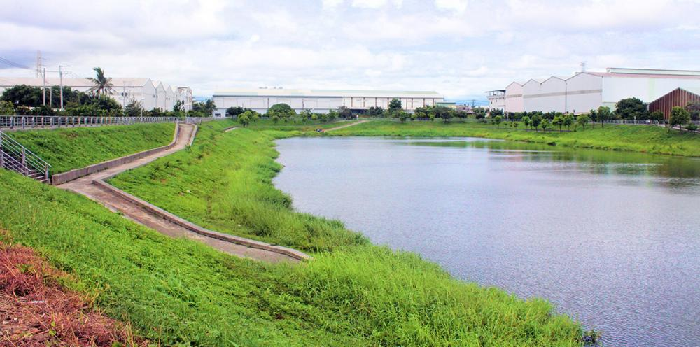 山仔頂溝滯洪池是後庄重要的濕地公園。(攝影/謝宏偉)