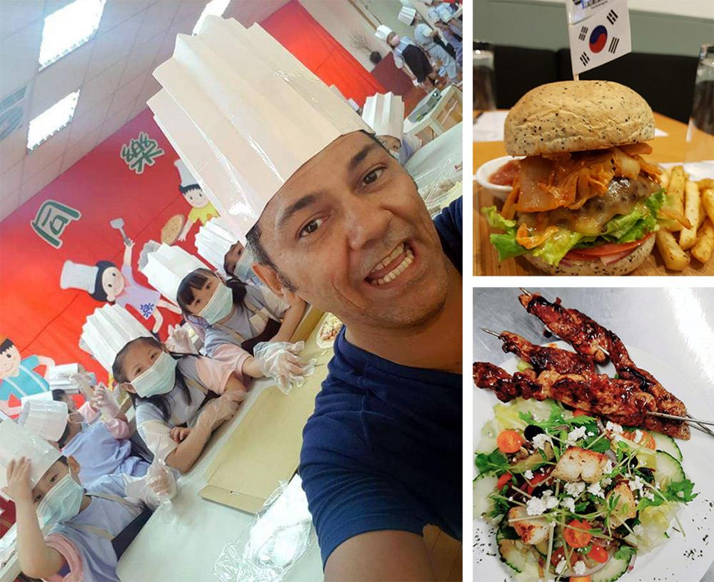 睿文教孩子認識不同國家的食物,希望透過異國料理來傳遞文化的多元性。(圖片提供/睿文)