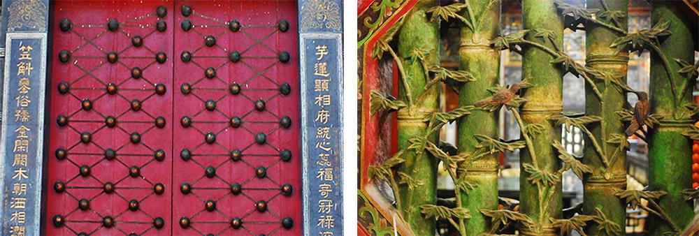 天文宮的門釘和庭園別具特色。(攝影/余嘉榮)