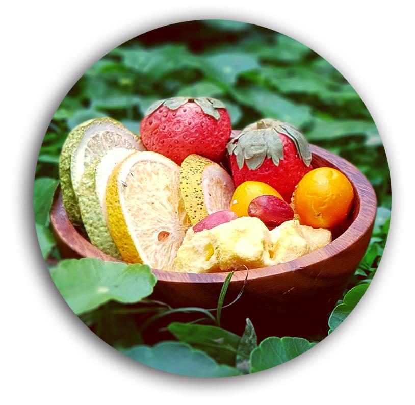 好結果的果乾採用許多高雄在地優質水果。(圖片提供╱一鳴生技農園)