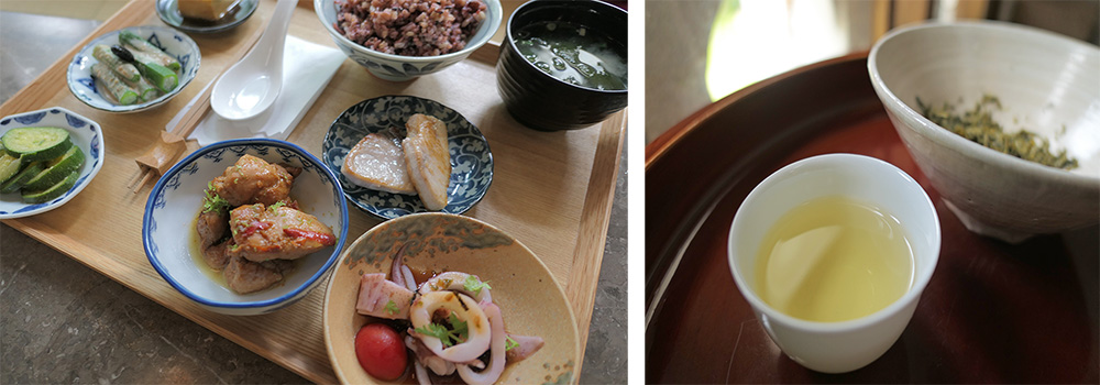 美味精緻的定食和茶飲。(攝影╱謝欣珈)