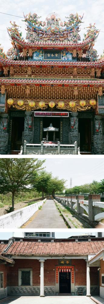 上:寶公宮。中:河堤慢跑步道。下:劉厝。(攝影/畝嘰斗)