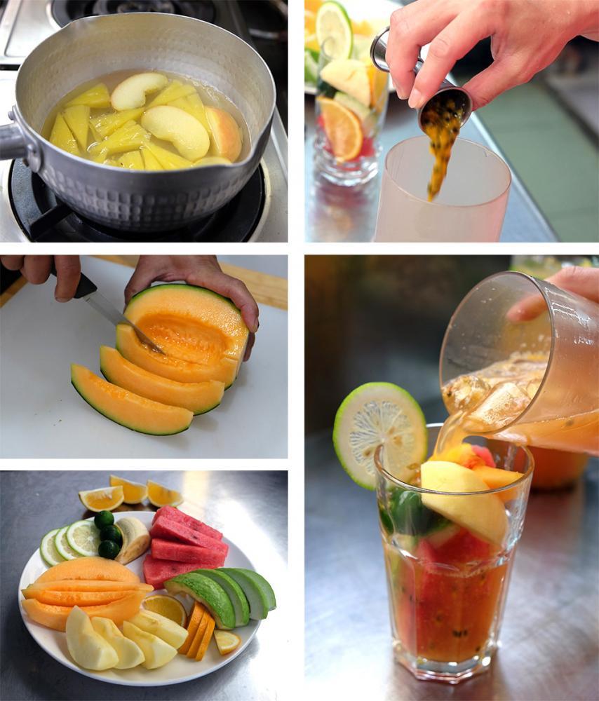 自己DIY水果茶。(攝影/N̂gChú-jiû黃子柔)