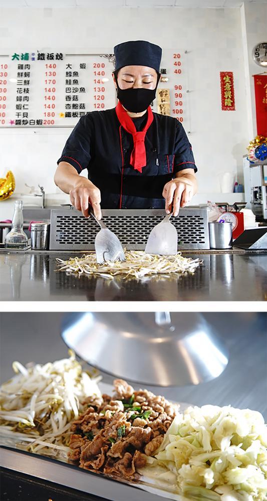 陳凱倫擁有一手好廚藝,看她鐵板燒快炒時,宛如觀賞一場美食實境秀。(攝影/曾信耀)