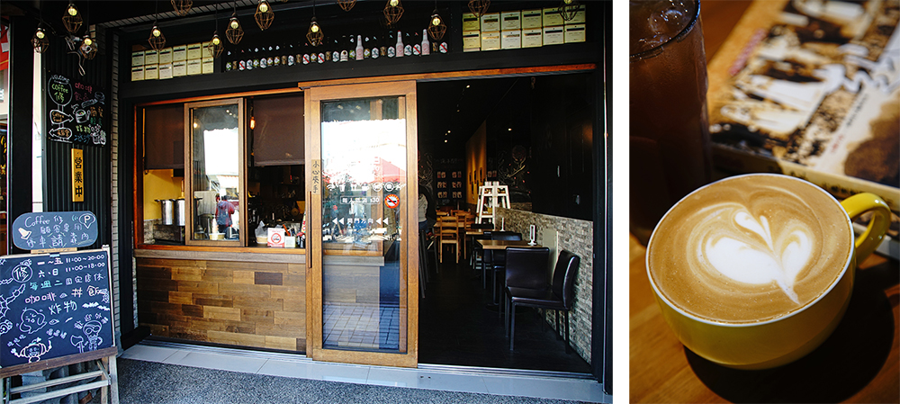 走訪旗山老街,來一杯咖啡,慢慢溫存小鎮時光。(攝影/曾信耀)