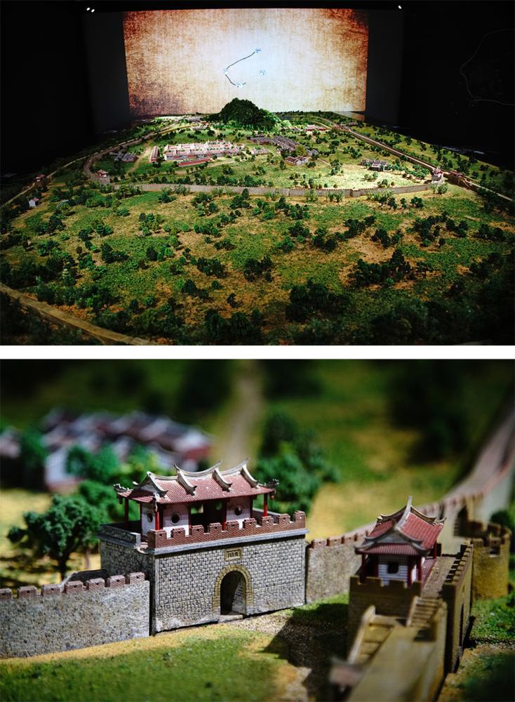 全台首創光雕動態鳳山縣舊城模型,8分鐘遊歷舊城千年史。(攝影/曾信耀)