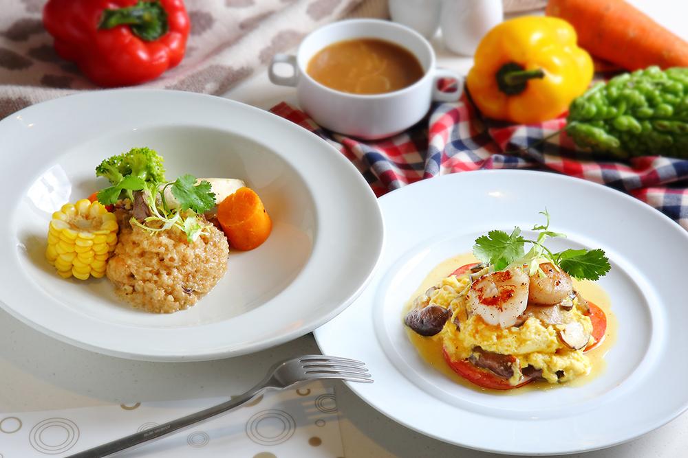 油飯、干貝,早午餐也能好好享用。(攝影/Cater)