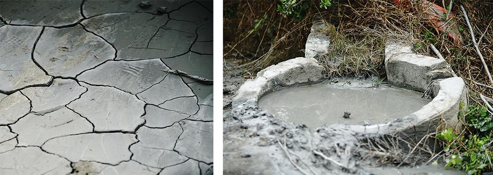 漯底山是台灣最大的泥火山,有兩處噴泥口。(攝影/曾信耀)