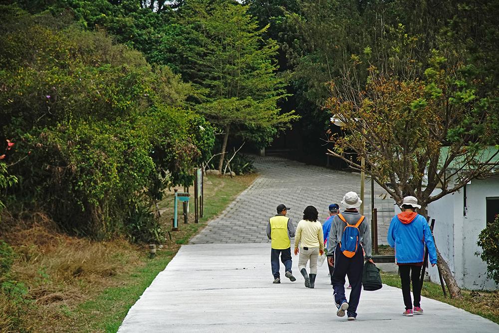 漯底山開放之後,已成為在地居民休閒步道的好去處。(攝影/曾信耀)