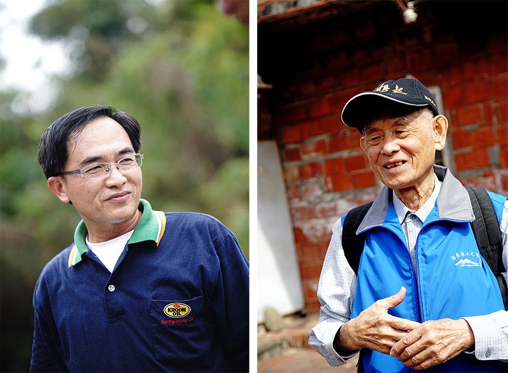 帶路人(左)蔡志華(右) 張哲男。(攝影/曾信耀)