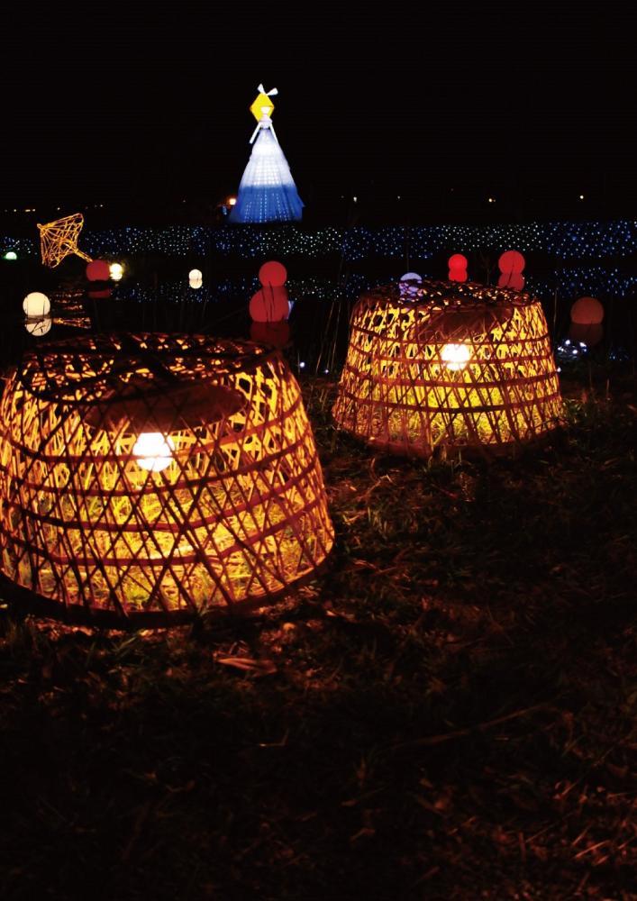 美濃好光景燈飾裝置藝術展至109年4月5日。(照片提供/美濃區公所)