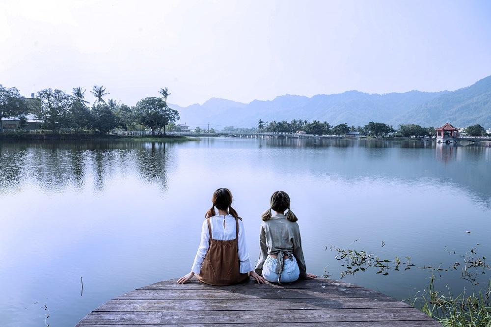 美濃湖畔好光景。(照片提供/美濃區公所)