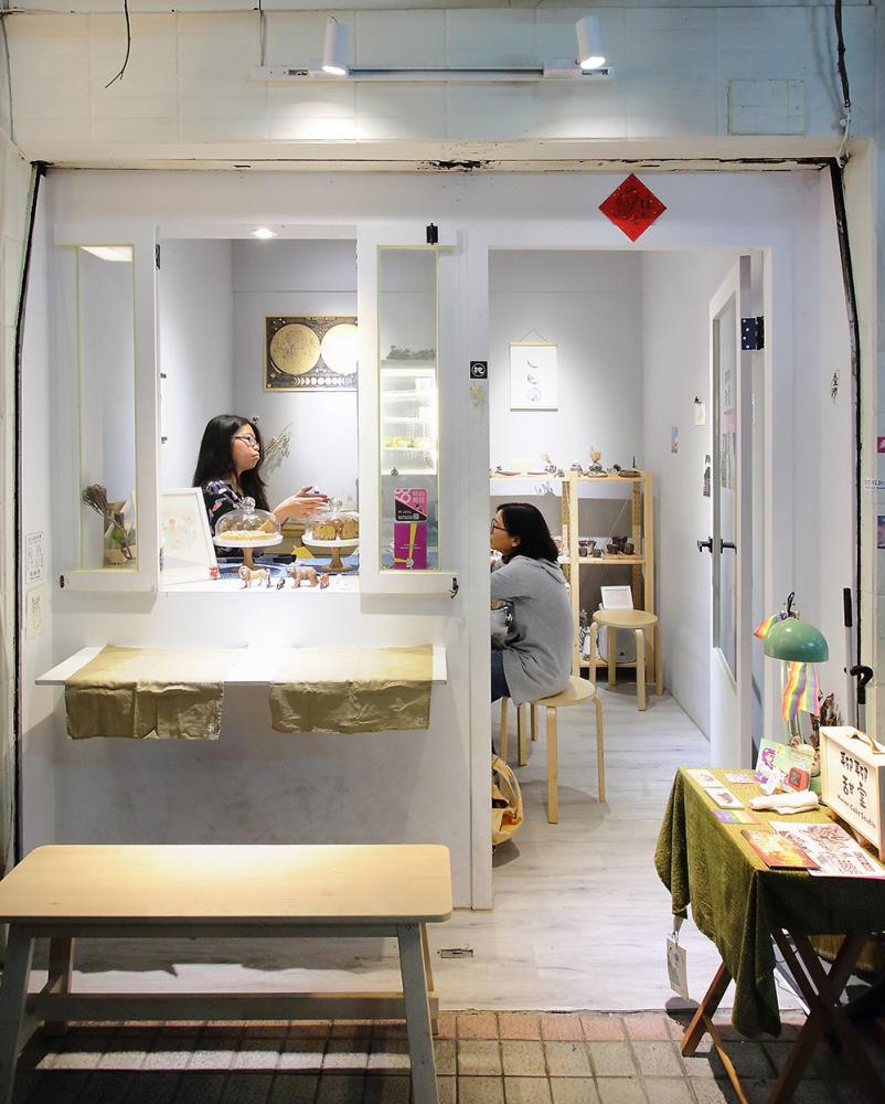 聊聊甜室的無印系風格,在鹽埕第一公有市場獨樹一格。(攝影/Carter)