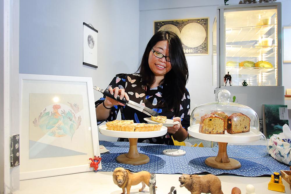 原本從事廣告企劃的Annie,平時喜歡烘焙而開始創作甜點。(攝影/Carter)