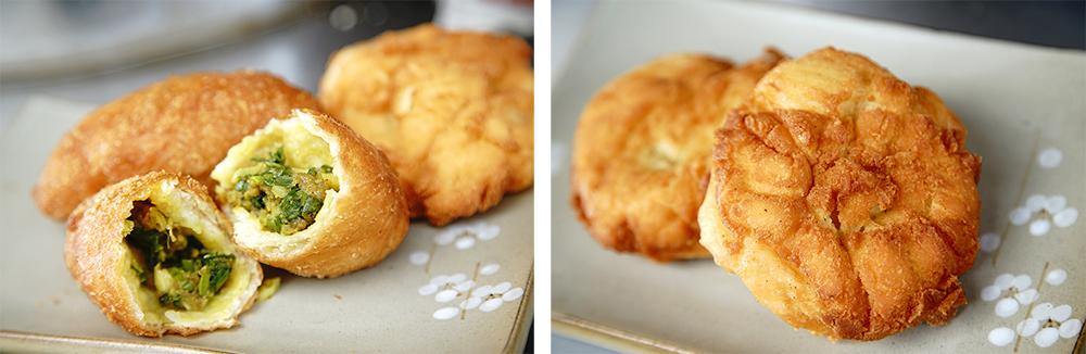 咖哩雞蛋酥才剛咬下,就香氣四溢,而原味雞蛋酥味道純粹,老少咸宜。(攝影/曾信耀)