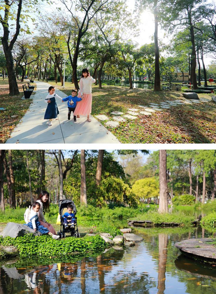 大東濕地公園為親子喜愛的休閒場域。(攝影/Carter)
