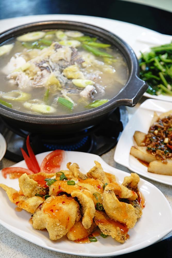 賀買餐廳招牌特色料理必推台灣鯛一魚多吃。(攝影/曾信耀)