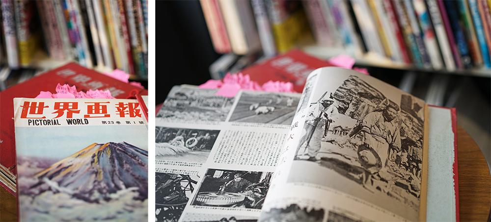 翻開1954年的合訂版《世界畫報》,瞬間穿越時光隧道,看見二戰後的生活樣貌。(攝影/李曉萍)
