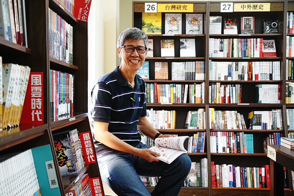 理楊德顯最喜歡的書店一隅,採光良好,與書相伴。(攝影/曾信耀)