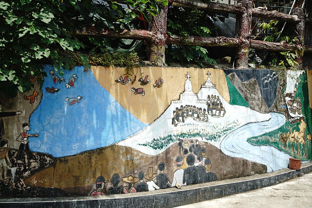 建山部落故事牆,來聽聽布農族人說故事。(攝影/曾信耀)