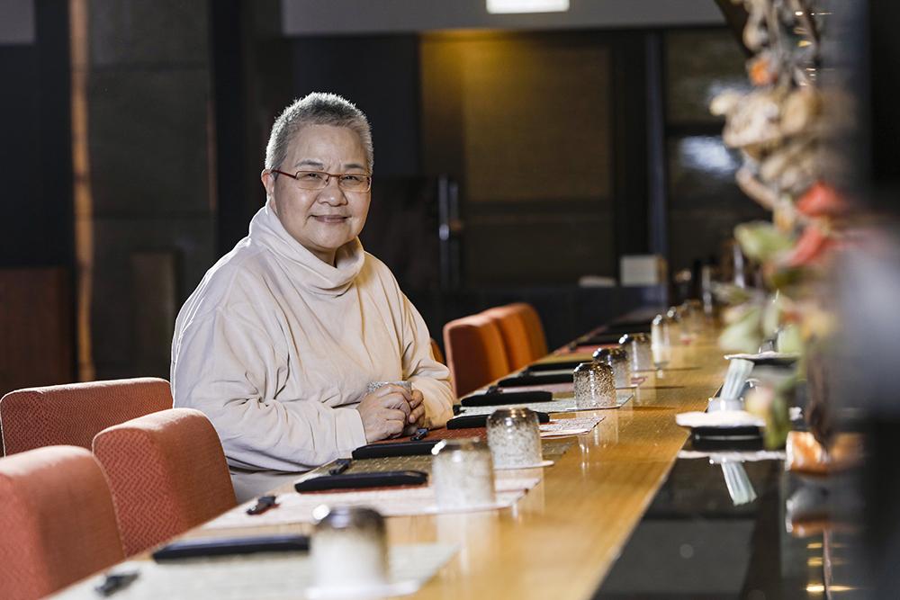 胡天蘭認為用餐氛圍的營造,也是美食的記憶之一。(攝影/陳晉生、場地提供/福容大飯店 台北一館)