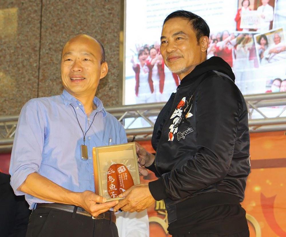 韓市長與港星任達華。