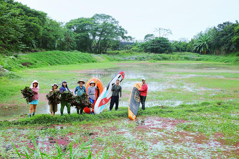 感謝美濃湖水雉棲地志工的協力與付出。(攝影/Carter)