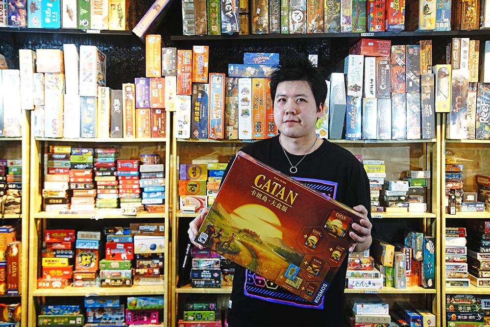 孫傳坤是資深的桌遊玩家。(攝影/曾信耀)