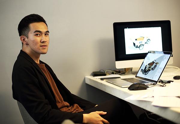 Alvin會隨手記錄日常,像是高雄的風景、氣味、溫度等等,成為自己設計三輪車的靈感來源。