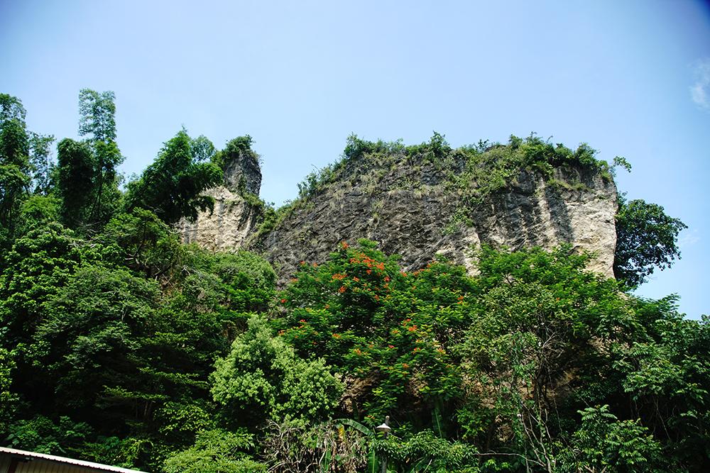 雞冠山,當地人稱為麒麟山,由於地殼隆起,山上可發現貝殼化石遺跡。(攝影/曾信耀)