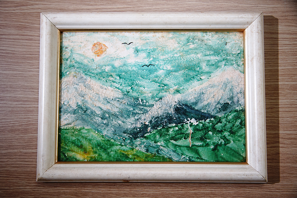 麵畫是捏麵藝術之一,常給人油畫般的錯覺。(攝影/曾信耀)